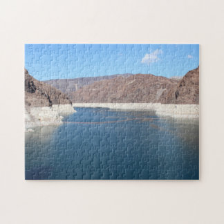 Puzzle picture showcasing rear of the Hoover Dam