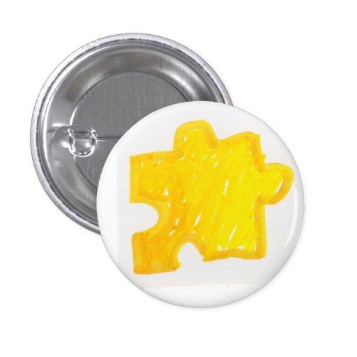 puzzle piece 1 inch round button