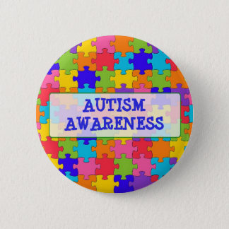Puzzle Piece Autism Awareness BUTTON
