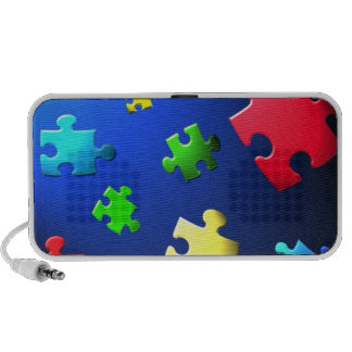 Puzzle piece doodle speaker