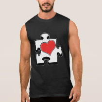 Puzzle Piece Heart Romantic Shirt