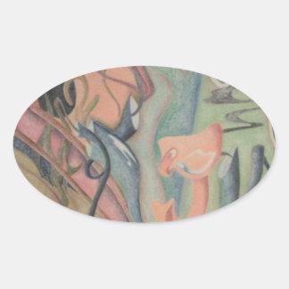 Puzzle Piece Oval Sticker
