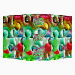 Puzzle Pieces Abstract 3 Ring Binder