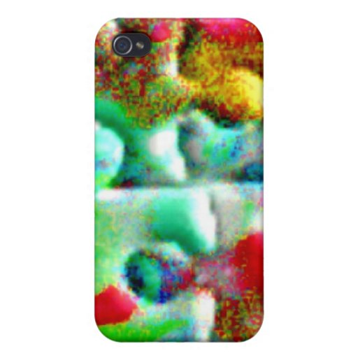Puzzle Pieces Abstract Cover For iPhone 4