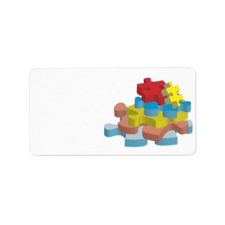 Puzzle Pieces Address Labels