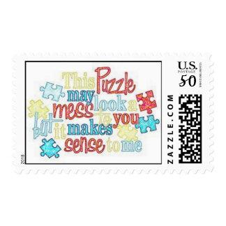 Puzzle Pieces Autism Postage