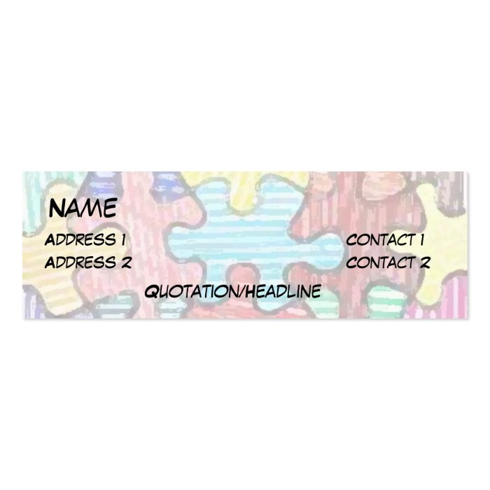 Puzzle Pieces Business Card Template