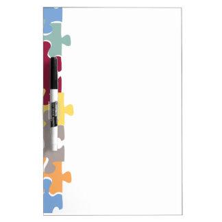 Puzzle Pieces Dry Erase Board