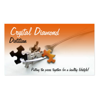 Puzzle Pieces & Fork Double-Sided Standard Business Cards (Pack Of 100)