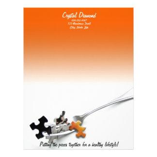 Puzzle Pieces & Fork Letterhead