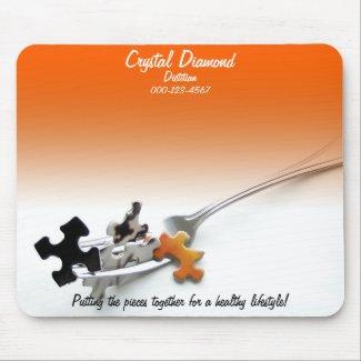 Puzzle Pieces & Fork mousepad