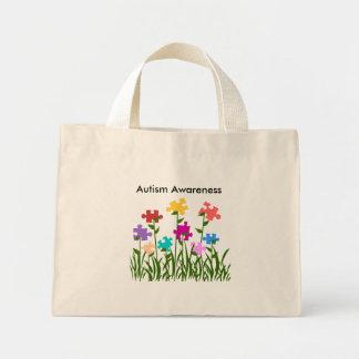 Puzzle pieces garden, Autism Awareness bag