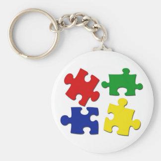 Puzzle Pieces Keychain