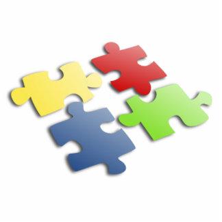 Puzzle Pieces Standing Photo Sculpture