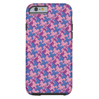 Puzzle Pieces Pink Purple Blue iPhone 6 Case