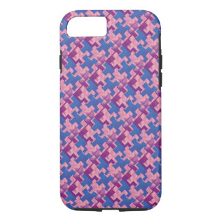 Puzzle Pieces Pink Purple Blue iPhone 7 Case