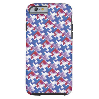 Puzzle Pieces Red White Blue iPhone 6 Case