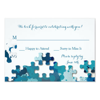 Puzzle Pieces Respons Card