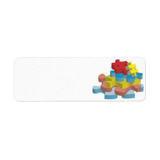 Puzzle Pieces Return Address Labels