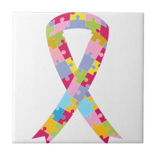 Puzzle Pieces Ribbon Tile