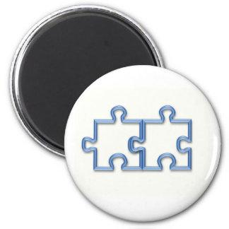 Puzzle Pieces Round Magnet