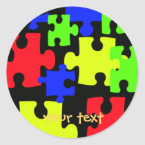 puzzle pieces sticker