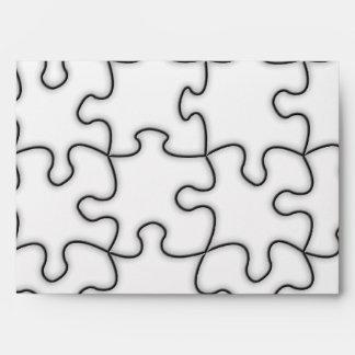 Puzzle Pieces Template (Add Background Color) Envelope