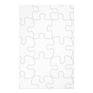 Puzzle Pieces Template (Add Background Color) Stationery
