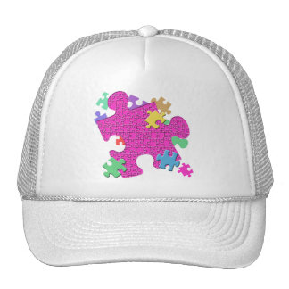 PUZZLE PIECES TRUCKER HAT