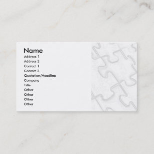 Puzzle business cards zazzle puzzle pieces white art deco business card colourmoves