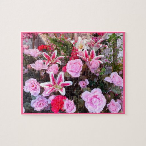 Puzzle: Pink Roses & Flowers