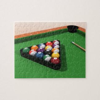 Puzzle: Pool Balls on Green Felt