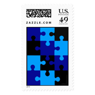 Puzzle Postage Stamp
