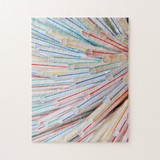 Puzzle Print of drinking straws