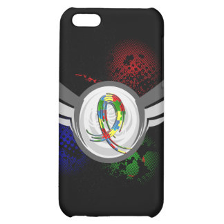 Puzzle Ribbon And Wings Autism Cover For iPhone 5C