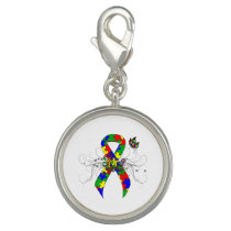 Puzzle Ribbon Butterfly Charm