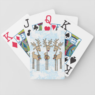 Puzzle Ribbon Reindeer - Autism Awareness Bicycle Playing Cards