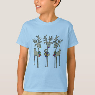 Puzzle Ribbon Reindeer - Autism Awareness T-Shirt