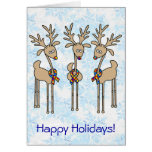 Puzzle Ribbon Reindeer - Autism Card