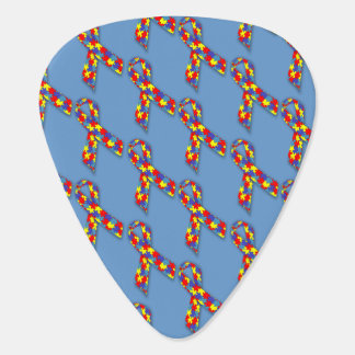 Puzzle Ribbons Guitar Pick