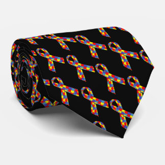 Puzzle Ribbons Neck Tie