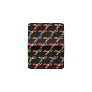 Puzzle Ribbons Tiled Pattern Business Card Holder