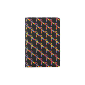 Puzzle Ribbons Tiled Pattern Passport Holder
