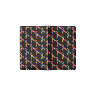 Puzzle Ribbons Tiled Pattern Pocket Moleskine Notebook