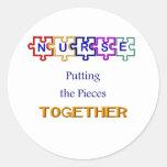 Puzzle Round Stickers