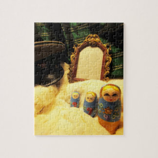 puzzle russian nesting dolls communist hat