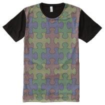 Puzzle Shirt: Austism-Friendly Colors All-Over-Print T-Shirt
