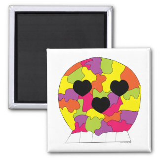 Puzzle Skull Magnet