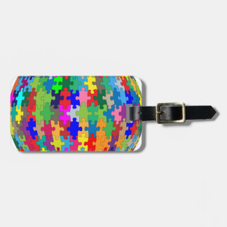 Puzzle Sphere Luggage Tag