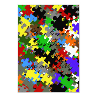 Puzzle Stones 3.5x5 Paper Invitation Card